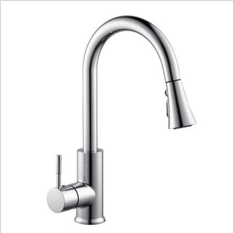 Harga KITCHEN faucet nozzle flared pull pull bubble kitchen shower Three functions can be suspended pull shower Plating - intl