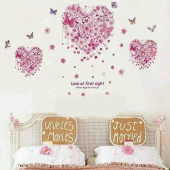 Harga Wall sticker butterfly love