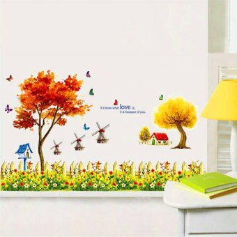 Harga Wall sticker Summer in The Garden 90 x 60 cm
