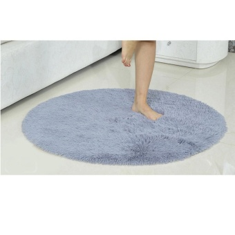 Harga 16inch Round Anti-Skid Fluffy Area Rug Dining Room Home Carpet Floor Mats Colorful - intl