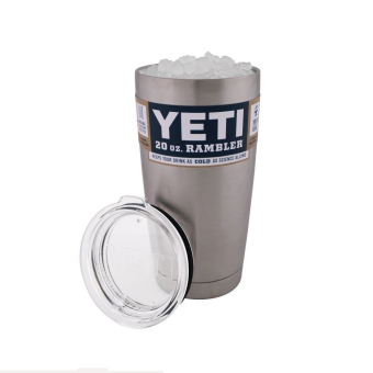 Harga Bilayer Stainless Steel Insulation Cup YETI Cups Cars Beer Mug Large Capacity Mug(20 oz) - intl