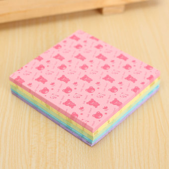 Harga 150 Sheets Square Origami Paper Crane Folding Colorful DIY Craft 6.5*6.5cm Bear