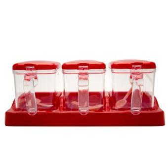 Uniq One Condiment Container/Tempat Bumbu 3 9017 - Merah
