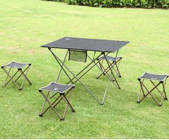 Harga coconie Aotu Outdoor Folding Fold Aluminum Chair Stool Seat Fishing Camping - intl