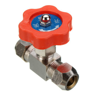 Harga Tube OD 6mm Nickel-Plated Brass Swagelok Plug Needle Valve 10mm