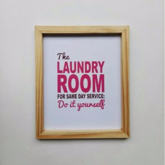 Harga Printed Poster - Laundry Room