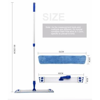 Harga EAST ES2234 Stainless Steel Handle Professional Microfiber mop with 2 Microfibre Refills - intl