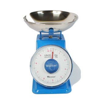 Harga Weston Kitchen Spring Platform Scale 10 kg - Biru
