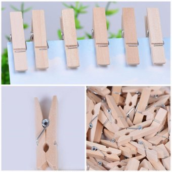 Harga Makiyo Natural wooden craft clip, use for photo, paper, clothing etc - intl