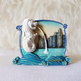 Harga Gloria Bellucci - Magnet Kulkas souvenir icon merlion singapore