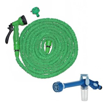 Harga Magic X-Hose Auto Expandable 22.5 m with Connector Type A - Selang Air Fleksibel - Hijau + Ez Jet Water Canon