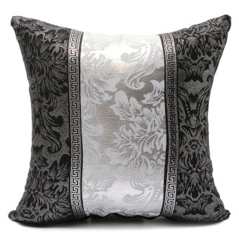 Black and White Porcelain Pattern Home Decor Sofa Throw Pillow Case Cover Style1