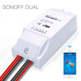 Sonoff Dual-Itead Smart Home WiFi Wireless Switch Module Home Automation for Apple Android - intl