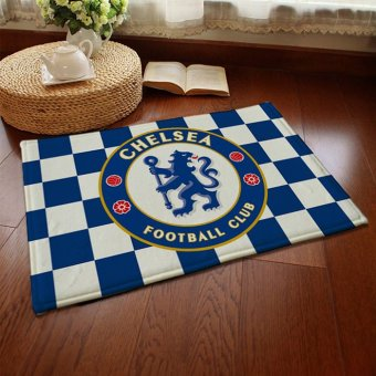 Harga CatWalk Absorbent Soft Coral Velvet Non-Slip Bathroom Floor Mat Rug Football Team Chelsea (Multicolor) - intl