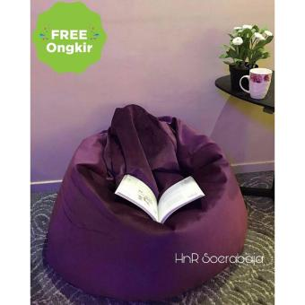 Harga Kursi santai Bean Bag Oval - Plum Purple
