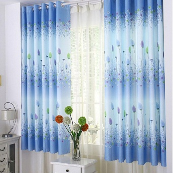 Harga coconie Feather Calico Finished Product Cloth Window Screens Curtain - intl