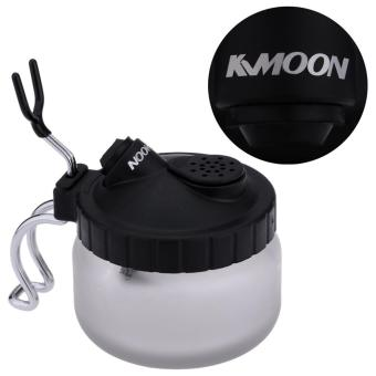 Harga KKmoon Cleaning Pot Glass Air Brush Holder Clean Paint Jar Bottle Manicures Tattoo Supply - intl