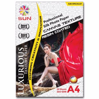 Harga Kertas Foto - SUN Professional Silk Photo Paper 265 A4 CANVAS Texture