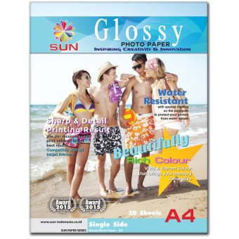Harga Kertas Foto - SUN Glossy Photo Paper A4 Single Side 185 Gsm - Next Generation Photo Paper