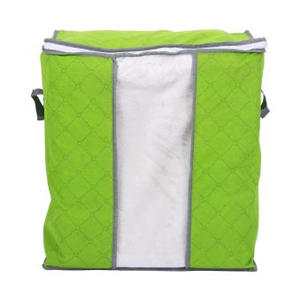 Harga Baju rumah baju tas selimut lipat kotak penyimpanan penyelenggara dengan jendela transparan Hijau - International
