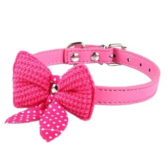 Harga Cocotina Knit Bow Pet Dog Collar Rose Red