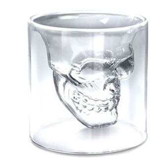 Harga LALANG Skull Head Glass Drinking Cup (Clear)