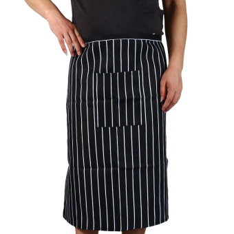 Harga MEGA Stripe half Apron With Chef Waiter Kitchen Cook Fashion