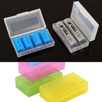 Harga Moonar Plastic Storage Box for 2pcs 18650 Batteries or 4pcs 16340 Batteries - intl