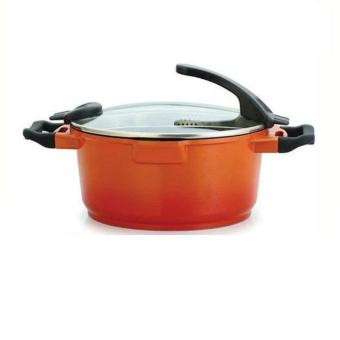 Harga Best Royal Chef Panci Multifungsi Ceramic Casserole 28CM - Orange