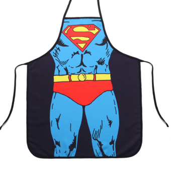 Harga Funny Cooking Kitchen Apron Superman