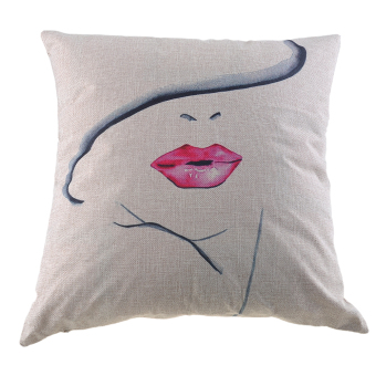 """Harga 18"""" Square Pillow Case Throw Pillow Covers - intl"""