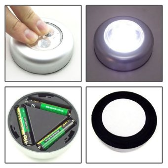 Harga Lampu Tempel LED - Touch Lamp Stick n Click Emergency+Batteries
