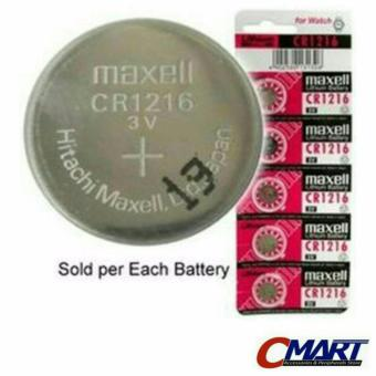 Harga Maxell CR1216 3 Volt Coin Lithium Cell Battery - MXL-CR1216