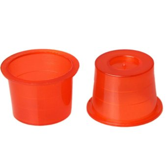 100x Small/Medium/Large Red Plastic Tattoo Ink Cups Caps Holder Pigment Supplies - intl