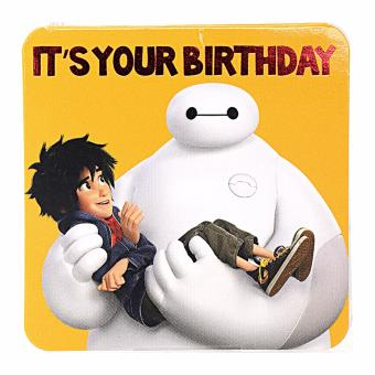 Harga Big Hero 6 Baymax Big Hero It's your Birthday Mini Gift Card