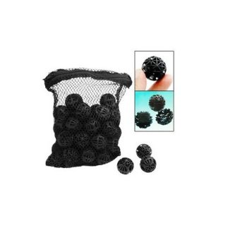 Harga 50pcs Aquarium Fish Tank Filter Bio Balls Bio-Balls with Mesh Pouch Bag Black (Intl)