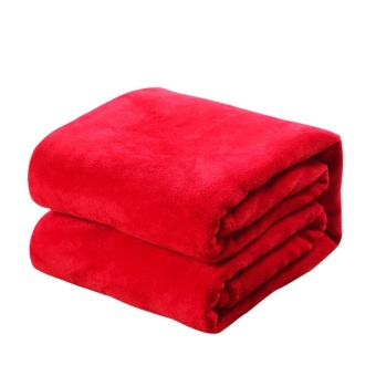 Harga New Super Soft Warm Solid Warm Micro Plush Fleece Blanket Throw Rug Sofa Bedding - intl