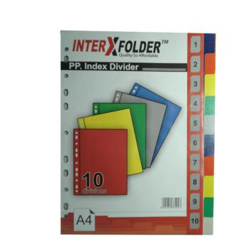 Harga PEN PAPER INTER X FOLDER, INDEX DIVIDER 10 TABS, A4, 1 PC