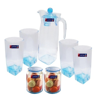 Harga Luminarc Teko set + toples ice blue