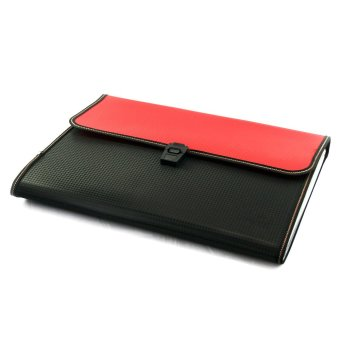 Harga OHOME Tozhca Folder File Kertas Paper Organizer Filing A4 Legal - MS-TZ522 - Merah