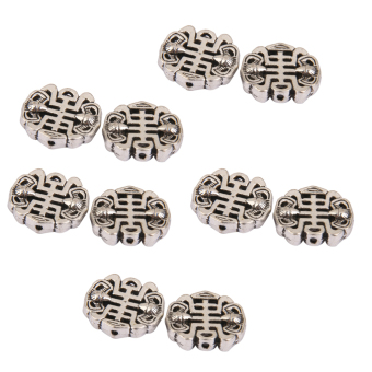 Harga BolehDeals 10pcs Antique Silver Alloy Chinese style Spacer Beads 16 x 14mm
