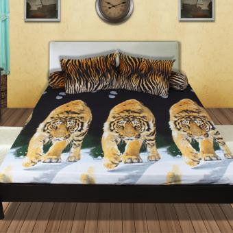 Harga California Sprei Motif Macan uk Queen