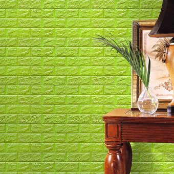 Harga coconie PE Foam 3D Wallpaper DIY Wall Stickers Wall Decor Embossed Brick Stone - intl