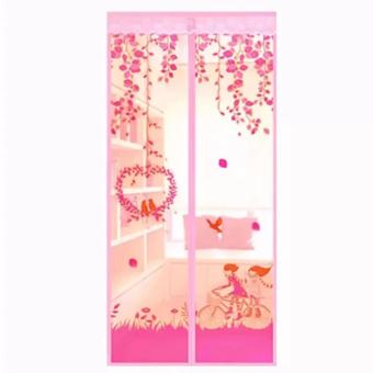 Harga AIUEO Magic Mesh Tirai Magnet Anti Nyamuk Motif Couple And Bird - Tirai Pintu Magnet - Pink