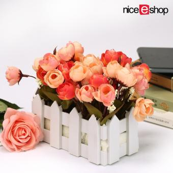 "Harga ""niceEshop Artificial Flowers Small Potted Plant Fake Camellia"