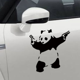 Harga Black Panda Style Car Stickers Wall Stickers - intl