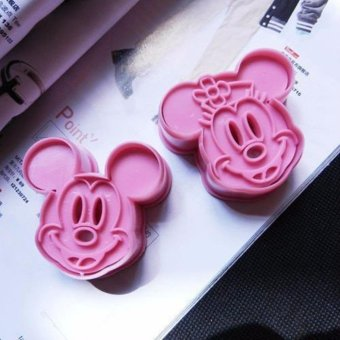Harga HengSong 2 Pcs Mickey Shape 3D Cute Baking Tool Cookie Cake Biscuit .