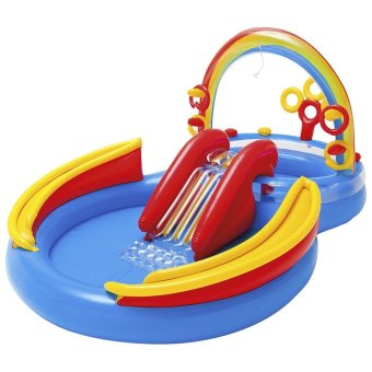 Harga Intex Kolam Rainbow Ring Play Center + Bola