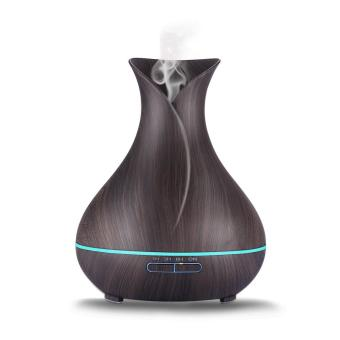 Harga Essential Oil Diffuser, Gogerstar 400ml Aroma Diffuser Wood Grain Cool Mist Humidifier Air Purifier with LED Color Lights Changing for Home, Office, Baby Room, Living Room, Yoga, Spa,Gym - intl