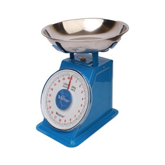 Harga Weston Kitchen Spring Platform Scale 20 kg - Biru